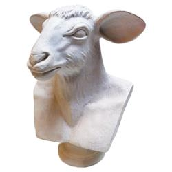 Oly Studio Ramsey White Animal Bust | Kathy Kuo Home