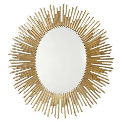 Oriana Modern Classic Antique Gold Sunburst Mirror | Kathy Kuo Home