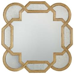 Oriana Modern Classic Decorative Antique Gold Leaf Mirror | Kathy Kuo Home