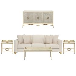 Oriana Modern Classic Living Room Set | Kathy Kuo Home