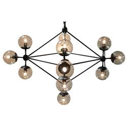 Orion Mid Century Black Metal Constellation Orb Chandelier | Kathy Kuo Home