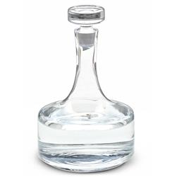 Orville Hollywood Regency Petite Piston Glass Decanter - 12 Inch | Kathy Kuo Home