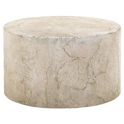 Osmond Industrial Round Limestone Concrete Coffee Table | Kathy Kuo Home