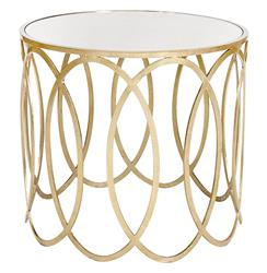 Ovation Hollywood Regency Silver Mirror Side Table | Kathy Kuo Home