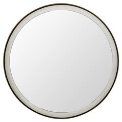 Pacifica Coastal Seagrass Brass Porthole Mirror | Kathy Kuo Home