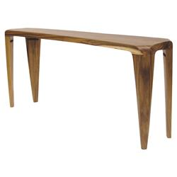 Palecek Adara Lodge Reclaimed Acacia Wood Natural Console Table | Kathy Kuo Home