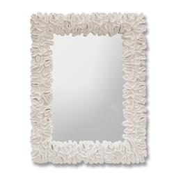 Palecek Broach White Coral Coastal Beach Mirror | Kathy Kuo Home