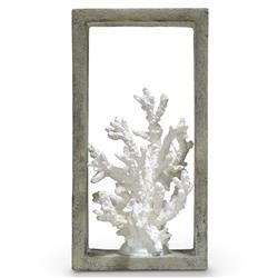 Palecek Indoor Coastal Beach Finger Coral Shadow Box | Kathy Kuo Home