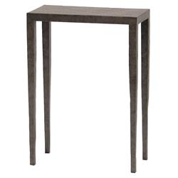 Palecek Josephine Industrial Loft Graphite Rectangular Metal Drink Side Table | Kathy Kuo Home