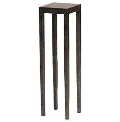Palecek Josephine Industrial Loft Graphite Square Metal Drink Side Table | Kathy Kuo Home