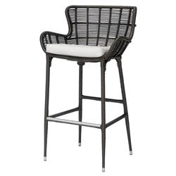 Palecek Palermo Modern Classic Espresso Outdoor Counter Stool | Kathy Kuo Home