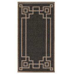 "Paloma Hollywood Regency Graphic Black Taupe Outdoor Rug - 2'3""x4'6"" 
