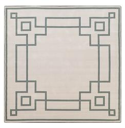 "Paloma Hollywood Regency Graphic Green Ivory Outdoor Rug - 8'9"" Square 
