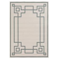 Paloma Hollywood Regency Graphic Green Ivory Outdoor Rug - 9x6 | Kathy Kuo Home