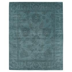 Paoli Bazaar Overdyed Teal Blue Wool Rug - 8x10 | Kathy Kuo Home