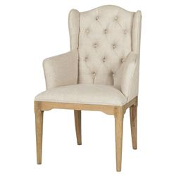 Paulette French Country Honey Beige Wing Armchair - Pair | Kathy Kuo Home