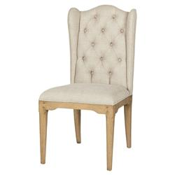 Paulette French Country Honey Beige Wing Side Chair - Pair | Kathy Kuo Home