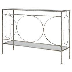 Peg Hollywood Regency Ornate Silver Iron Table | Kathy Kuo Home