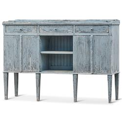 Peitro French Country Weathered Antique Blue Wood Sideboard Buffet | Kathy Kuo Home