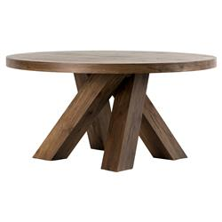 Pembroke Lodge Alder Wood Contemporary Dining Table | Kathy Kuo Home