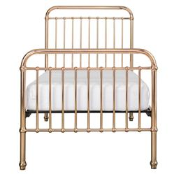 Penny Modern Classic Rose Gold Metal Bed - Twin | Kathy Kuo Home