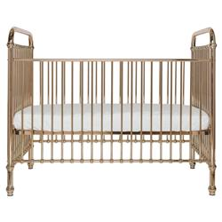 Penny Modern Classic Rose Gold Metal Crib | Kathy Kuo Home