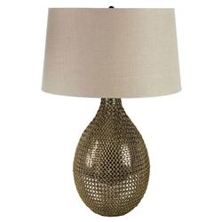 Penrod Industrial Modern Brass Chain Link Gourd Lamp | Kathy Kuo Home