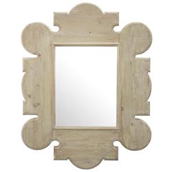 Perouges French Country Gothic Rustic Fir Mirror | Kathy Kuo Home