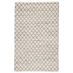 Peter Modern Beige Blue Natural Jute Trellis Pattern Rug - 5' x 8' | Kathy Kuo Home
