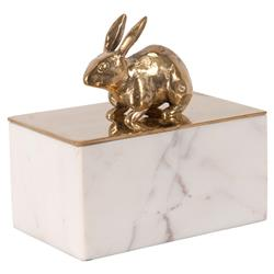 Peter Rabbit Gold White Marble Decorative Box | Kathy Kuo Home