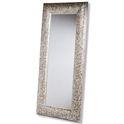 Phanta Coastal Mother of Pearl Tan, Rose Large Leaning Modern Floor Mirror | Kathy Kuo Home