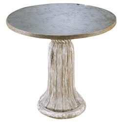 Picard French Country Rustic Silver Tassel Table | Kathy Kuo Home