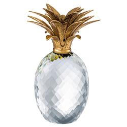 Pineapple Hollywood Regency Crystal Glass Brass Sculpture | Kathy Kuo Home