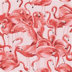 Pink Flamingo Removable Wallpaper | Kathy Kuo Home