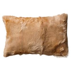 Polina Modern Classic Camel Mongolian Goat Fur Decorative Pillow - Set of 2 | Kathy Kuo Home