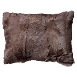 Polina Modern Classic Dark Brown Mongolian Goat Fur Decorative Pillow - Set of 2 | Kathy Kuo Home