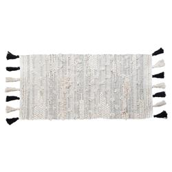 Pom Pom French Country Quincy Grey Ivory Handwoven Rug - 3' x 5' | Kathy Kuo Home