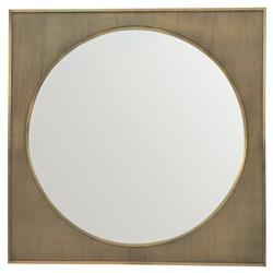 Portia Hollywood Regency Square Metal Mesh Inset Wall Mirror | Kathy Kuo Home
