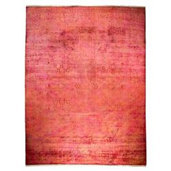 Posey Vibrant Overdyed Pink Wool Rug - 9'1 x 11'10 | Kathy Kuo Home