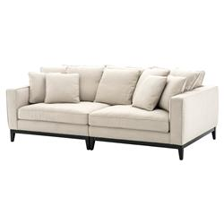 Principe Modern Classic  White Upholstered Sofa | Kathy Kuo Home