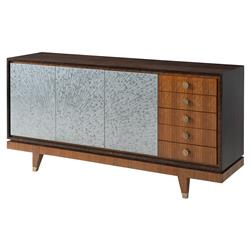 Ray Modern Classic Etched Brass Inlaid Sun Ray Doors Eucalyptus Cabinet | Kathy Kuo Home