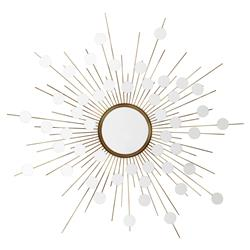 Reflections Modern Classic Antique Brass Starburst Wall Mirror | Kathy Kuo Home