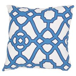 Regency Blue Trellis Outdoor Pillow - 18x18 | Kathy Kuo Home