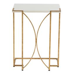 Regency Deco Antique Gold Seagrass C Table | Kathy Kuo Home