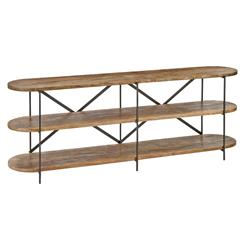 Regina Andrew Workshop Rustic Lodge Mango Wood 3 Tier Console Table | Kathy Kuo Home