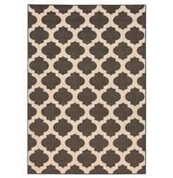 "Regina Moorish Tile Outdoor Black Ivory Hollywood Regency Rug - 2'3""x4'6"" 
