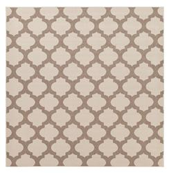 "Regina Moorish Tile Outdoor Taupe Ivory Hollywood Regency Rug - 8'9"" Square 