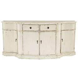 Reine French Country Antique Ivory Wood Console Buffet | Kathy Kuo Home
