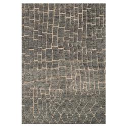 Renna Industrial Slate Grey Path Wool Jute Rug - 4x6 | Kathy Kuo Home