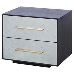Resource Decor Waters Regency Silver Leaf Eglomise 2 Drawer Nightstand | Kathy Kuo Home
